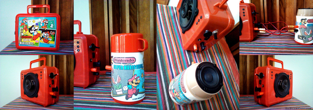 super mario lunchbox boomcase boombox thermos speaker bruno mars red retro