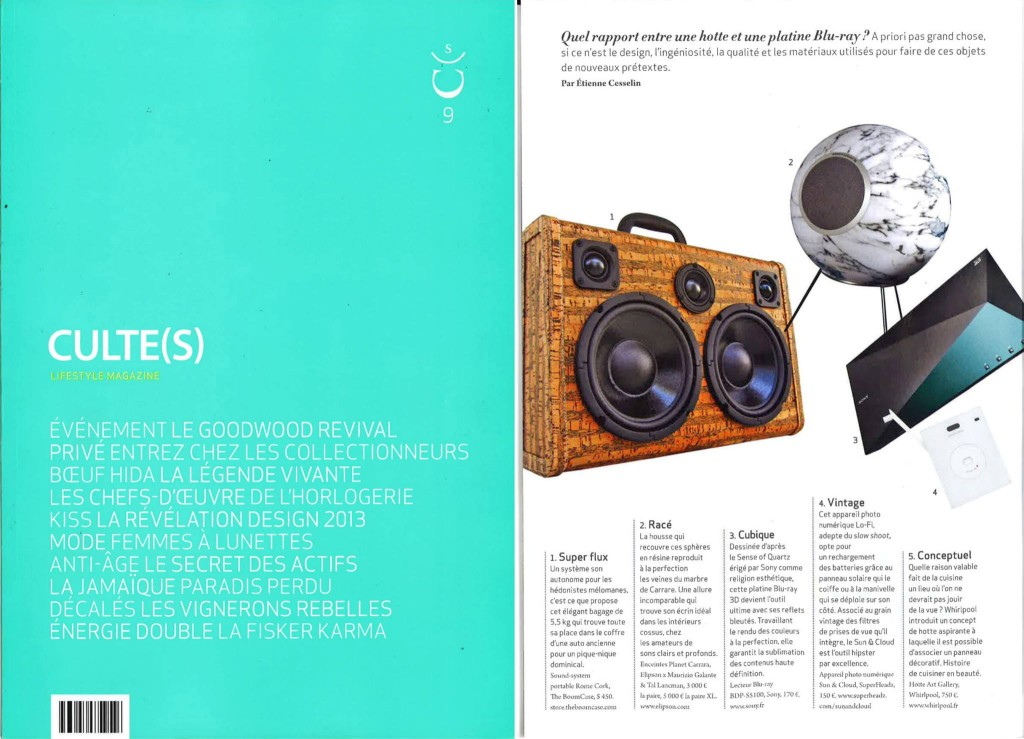 culte(s) -Magazine France BoomCase Cork Lifestyle Fashion  design