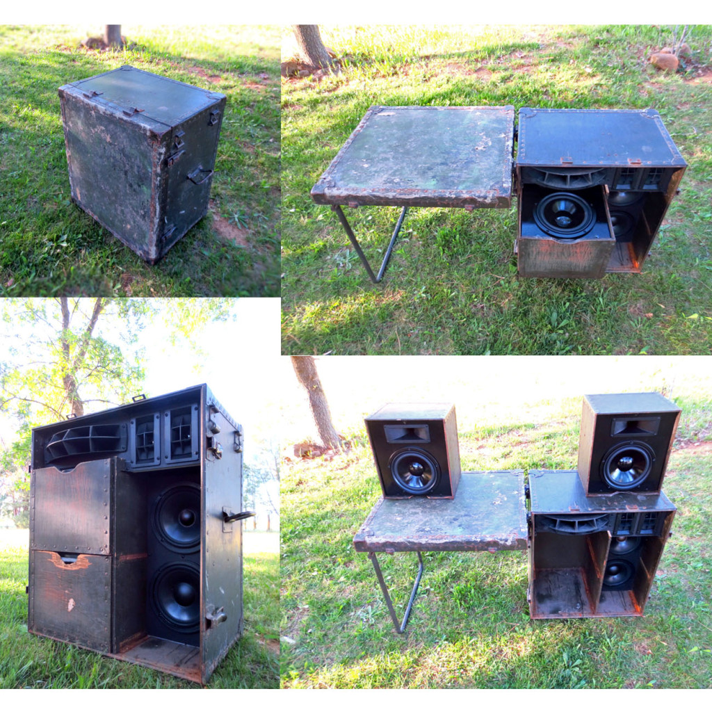 DJ Booth Mobile in a Box Speakers PA System BoomCase BoomBox Trunk Vintage