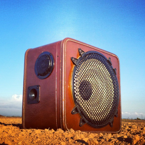 BoomBox vintage suitcase boomcase boombox burning man playa