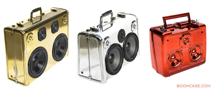 Chrome Dipped BoomBox BoomCase Vintage Suitcase Amazing Retro Lunchbox Foil Shine Bling Reflective Smooth Color