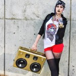 Tattoo Tats Tattoos Tatted Up Girl Rocker Chick Punk Girl American Gypsy Sacramento Golden BoomCase Gold BoomBox Vikings History Channel Boomcase sexy girl with sunglasses on and a boomcase at quickly cup sacramento holidays Christmas BoomCase Gift Red Dress Cute Sexy Gold Art installation tapigami Sacramento Downtown Exhibit S Viking England