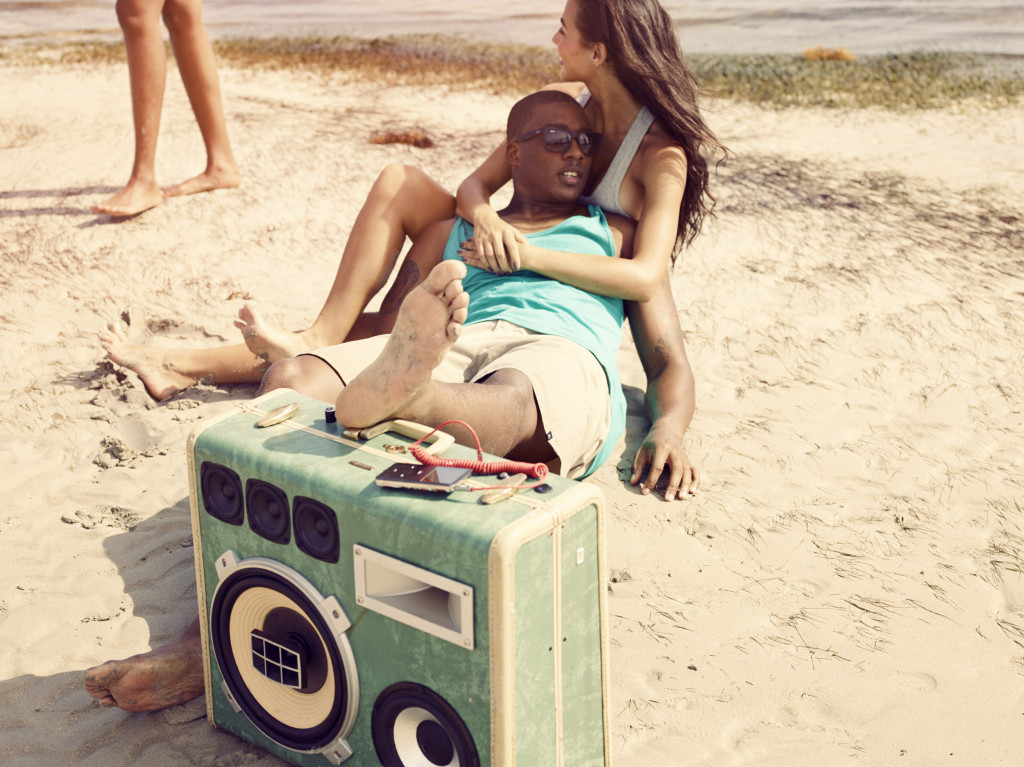 BoomCase Summer Sam Robinson Endless Beach Miami Fun Times Girls Boys BoomBox Bikini Shades bluetooth speaker unique