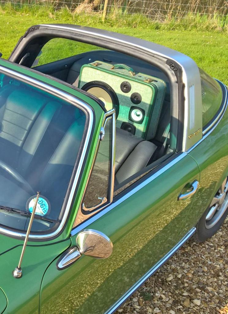 Porsche Targa BoomCase Classic Sound System BoomBox UK Vintage Sports Car