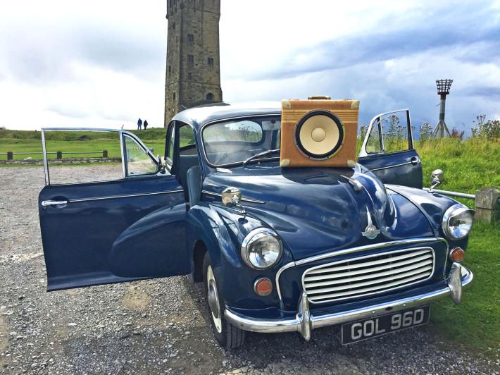 Morris Minor Stereo System Radio Classic Car BoomBox Boomcase Speaker Stereo