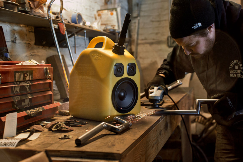 Fools Gold BoomCase BoomBox Speaker Portable Bluetooth Gas Can Diesel